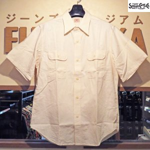 SALE・10%OFF/シュガーケーン/Sugar Cane/ホワイトシャンブレー半袖ワークシャツ【SC35875A】401番色(ワンウォッシュ)|furutaka