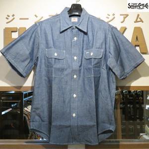 シュガーケーン Sugar Cane ブルーシャンブレー半袖ワークシャツ【SC37941】421番色(ワンウォッシュ)|furutaka