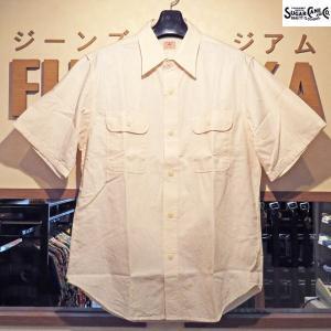 シュガーケーン Sugar Cane ホワイトシャンブレー半袖ワークシャツ【SC37942】401番色(ワンウォッシュ)|furutaka