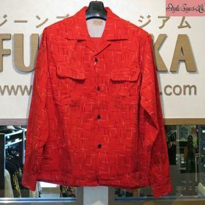 スタイルアイズ Style Eyes NEP PRINT コーデュロイスポーツシャツ【SS27992】165番色(レッド)|furutaka