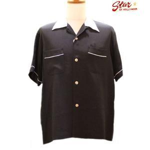 スタイルアイズ Style Eyes TWO-TONE レーヨンボーリングシャツ【SE37802】119番色(ブラック)|furutaka