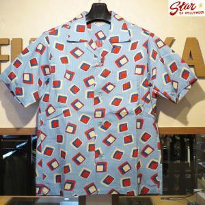 スターオブハリウッド Star☆OF HOLLYWOOD SQUARES 半袖オープンシャツ【SH37283】120番色(サックス) furutaka