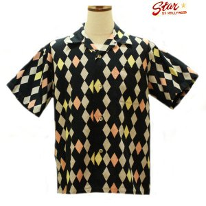スターオブハリウッド/Star☆OF HOLLYWOOD/DIAMONDS 半袖オープンシャツ【SH37596】119番色(ブラック) furutaka