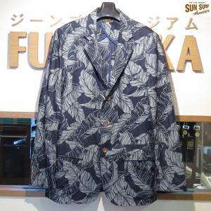 サンサーフ/Sun Surf/TROPICAL LEEF インディゴジャガード・テーラードジャケット【SS14021】128番色(ネイビー)|furutaka