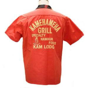 サンサーフ Sun Surf DINER SHIRT KAMEHAMEHA GRILL オープンカラー・ダイナーシャツ【SS37892】165番色(レッド|furutaka