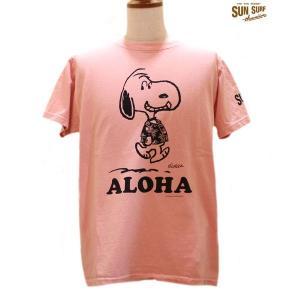 サンサーフ Sun Surf/SURF×PEANUTS 半袖Tシャツ【SS77973】162番色(ピンク)|furutaka