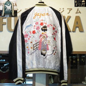 テーラー東洋 スカジャン アセテートスカ 舞妓×WHITE EAGLE【TT14465】190番色(シルバー)|furutaka