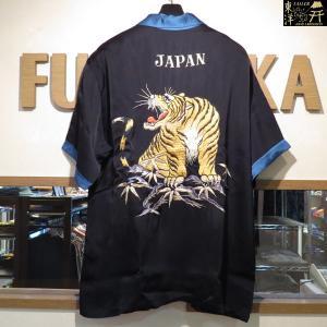 テーラー東洋 ROARING TIGER 半袖スカレーヨンシャツ【TT37916】119番色(ブラック)|furutaka