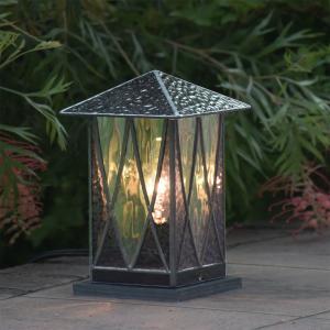 ステンドグラス ガーデンランプ 庭園灯 外灯 屋外照明 LED 対応 洋風 おしゃれ