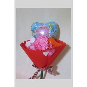 母の日 小さなハートバルーン 感謝の花束|fusen-bs