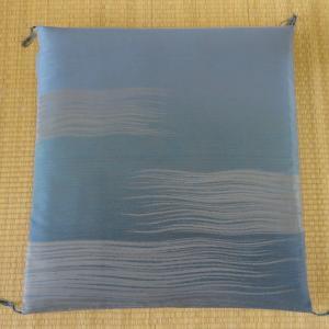 米沢織「渚」座布団カバー ブルー|fushikian