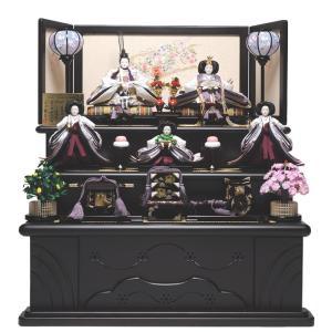 【雛人形 五人飾】【雛人形】三段飾京九番親王六寸官女:彩華雛:平安翠泉作