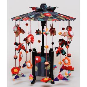 【【つるし飾】【傘福かざり】つるし雛縁起の傘つるし「つばき」大【吊るし雛】【雛人形】