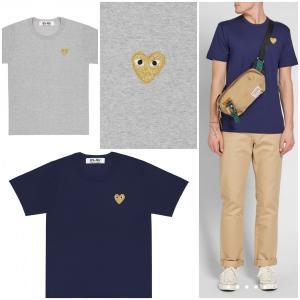 コムデギャルソン COMME des GARCONS プレイ Tシャツ メンズ ゴールドハートTee 取り寄せ