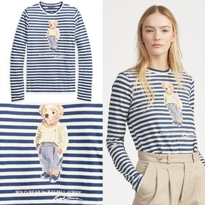 商品名:Striped Polo Bear Shirt ra-471925  ポロベアがデザインされ...