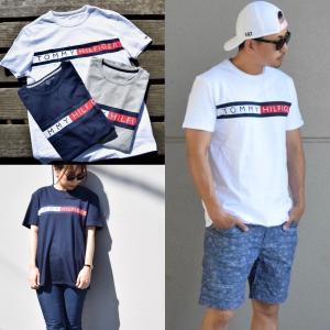 トミーヒルフィガー トミー ロゴ Tシャツ レディース メンズ ユニセックス Tommy Hilfiger Split Tee 取り寄せ