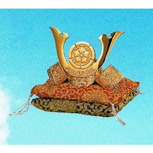 兜飾り・織田信長・純金メッキ 座布団つき28-33・代引き不可・工房直送品