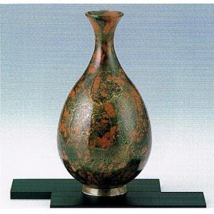 銅製花瓶・飛翔・敷板なし・新錦色・日本製・代引き不可・工房直送品75-08