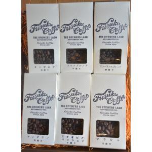 フスクブレンド100g エントランスブレンド100g タンザニア浅煎100g インドネシア浅煎100g ブラジル深煎100g エチオピア中煎100g ギフトBOX|fusukucoffee