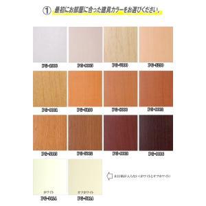 洋室建具 押入れ天袋フラットタイプ 高さ:600mm以下のオーダー建具はこちらからのご購入になります。 ふすま 用のミゾで入れられます。押入れ 天袋 fusuma123 03