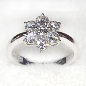 [プレミアム・プレオウンド] 輝きに溢れるダイヤモンド 1.01ct Pt900リング[FutabaOnline] futaba-online
