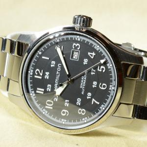 [プレミアム・プレオウンド] ハミルトン メンズ腕時計 カーキ ラージ HAMILTON KHAKI LARGE [FutabaOnline]|futaba-online