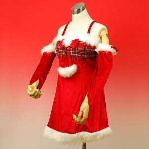 【クリスマス用品】ガーリーチェックサンタ 帽子・アームウォー...