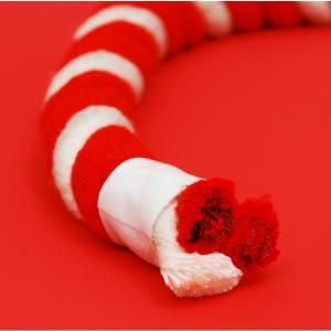 【お祭り用品】紅白紐(ひも)直径8mm 1mあたり【領収書発行】