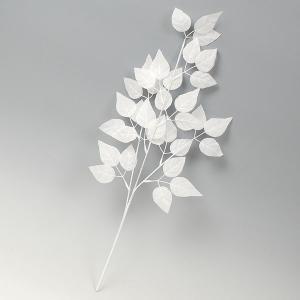 【冬の装飾】ホワイトリーフ小枝【領収書発行】の商品画像