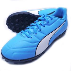 サッカージュニアトレーニングシューズ プーマ:PUMA  カラー :ブルーアズール アッパー:人工皮...