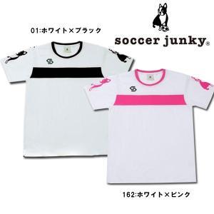 【ネコポス選択可】 サッカーウェア 半袖 メンズ レディース 兼用 サッカージャンキー soccerjunky OLE! プラシャツ CP17037|フタバスポーツフットボール店