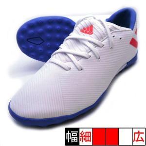 新作 ネメシス メッシ 19.3 TF J アディダス adidas F99930 ホワイト×レッド ジュニア サッカー トレーニングシューズ|futaba