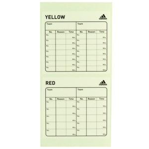 サッカー レフリー カードステッカー アディダス adidas JH401-V09359  審判 用品|futaba