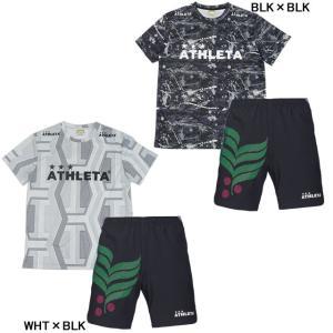 アスレタ ATHLETA 半袖 プラクティス上下セット 総柄プラTシャツ プラクティスパンツ SP-166-02313 futaba