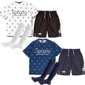【3点セット】スパッツィオ SPAZIO ジュニア サッカーウェア 上下セット 半袖 パンツ 子供用...