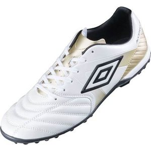 アクセレイター SL TR アンブロ UMBRO UU2LJB02WH ホワイト×ゴールド サッカー トレーニングシューズ