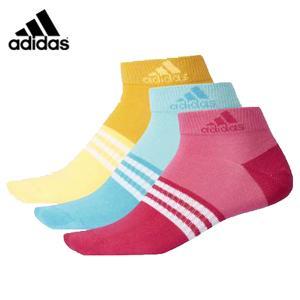 アディダス adidas アーバン 3P ショート ソックス DMK59 メンズ レディース 定番 スポーツソックス 3足組 靴下 futabaathlete