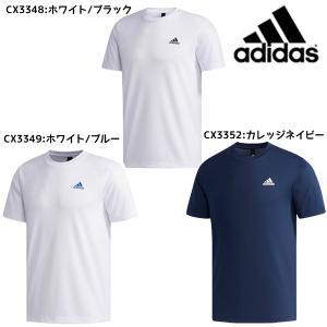 【ネコポス送料無料】アディダス adidas ワンポイントTシャツ 半袖 メンズ ETZ84 トレーニングウェア ランニング 部活 練習Tシャツ ジム