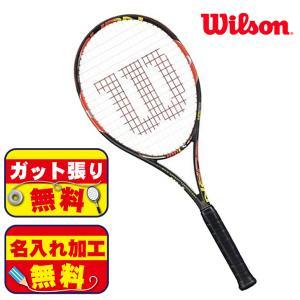 ガット張り&マーク加工無料!ウィルソン WILSON WRT72551 BURN 100LS 硬式ラケット テニス ラケット|futabaathlete