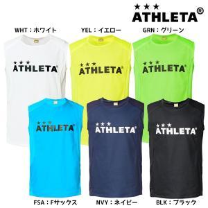 アスレタ ATHLETA カラープラクティスノースリーブシャツ 01087 サッカー フットサルウェア メンズ|futabaharajuku