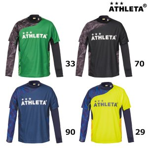 アスレタ ATHLETA プラシャツインナーセット 02299 メンズサッカーフットサルウェア 半袖シャツ インナーセット 練習  2018年秋冬モデル|futabaharajuku