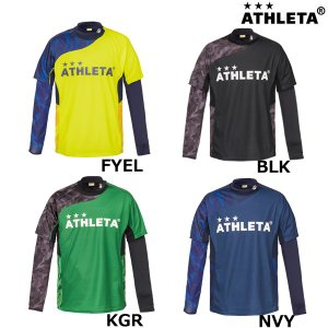 アスレタ ATHLETA プラシャツインナーセット 02299J ジュニア サッカー フットサルウェア ロングインナーシャツ 半袖プラシャツセット|futabaharajuku