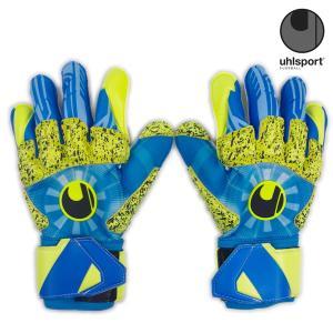 ウールシュポルト uhlsport スーパーグリップ リフレックス 360 G 1011128-02 サッカー キーパーグローブ キーグロ GKグローブ 青 黄色|futabaharajuku