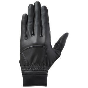 ミズノ MIZUNO グローバルエリート ZeroSpace 守備用手袋 1EJED181 右手用 ブラック|futabaharajuku