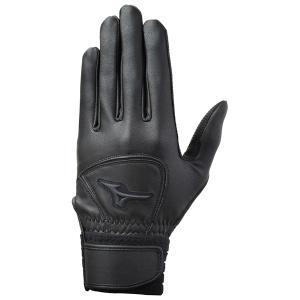 ミズノ MIZUNO グローバルエリート ZeroSpace バッティング手袋 1EJEH180 両手用 ブラック|futabaharajuku