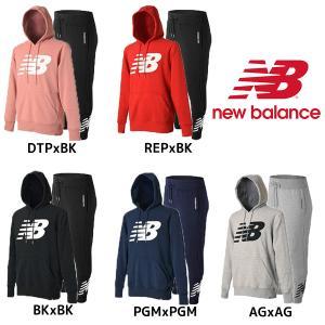 ニューバランス New Balance スウェット パーカー パンツ 上下セット AMT81557 AMP81507 スポーツウェア|futabaharajuku