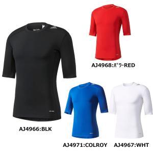 アディダス adidas テックフィット BASE ショートスリーブ BCI84 サッカー ウェア 半袖 インナーシャツ|futabaharajuku