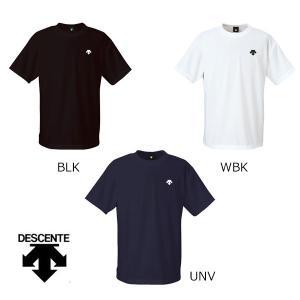 デサント DESCENTE ドライニットTシャツ DAT-5006B メンズ 吸汗速乾 ワンポイント 半袖|futabaharajuku