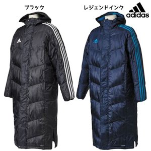 ベンチコート アディダス adidas 中綿 ロングコート SHADOW  DLK12 メンズ 観戦|futabaharajuku