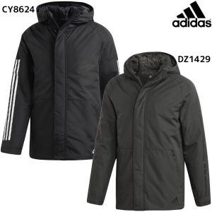 アディダス adidas BOS 3-stripes Xploric Parka EUB83 メンズ ウィンタージャケット 防寒 ハーフコート トレーニング スポーツウェア|futabaharajuku